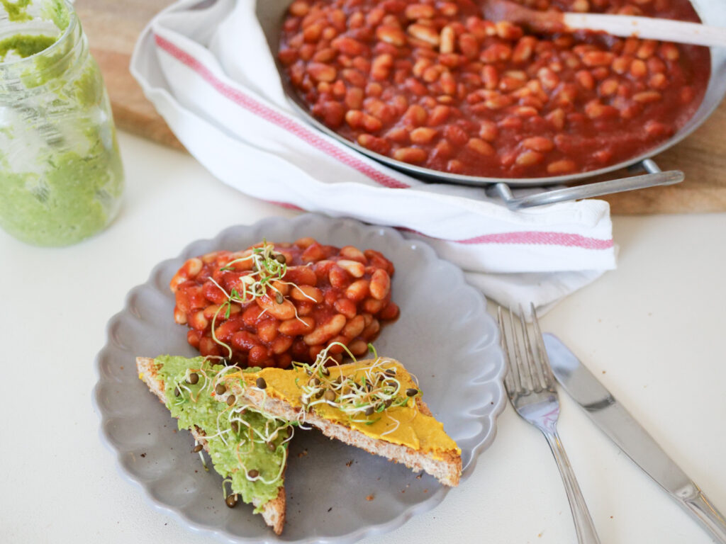 Vegane und gesunde Baked Beans, Zuckerfrei und Low Carb